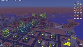3D City (Micropolis) : survol de la ZUP des Champs Fleuris au crépuscule