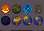 Thèmes pour la base (Crazy Planets par Playfish)