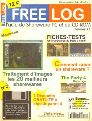 Couverture Free Log numéro 2 (février 1995)
