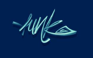 Un magnifique logo en pixel-art par Desert/Funk! dans la première production du groupe. Reality par Funk! (MS-DOS, 1995) https://demozoo.org/productions/8745/