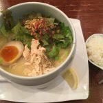 高田馬場駅徒歩10分×「鶏白湯麺 蔭山 高田馬場店」濃厚でキメの細かい鶏白湯スープ