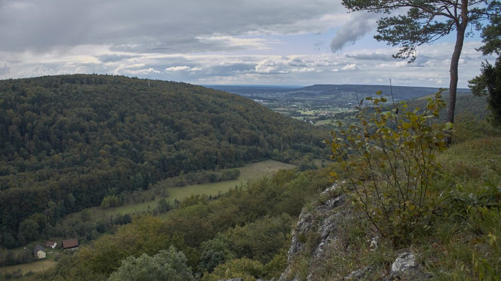 Wanderung nach Wolkenstein Blick vom Röthelfels