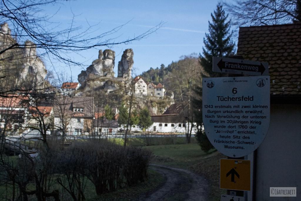 Wanderung ins Felsendorf Tüchersfeld mit alpinen Feeling