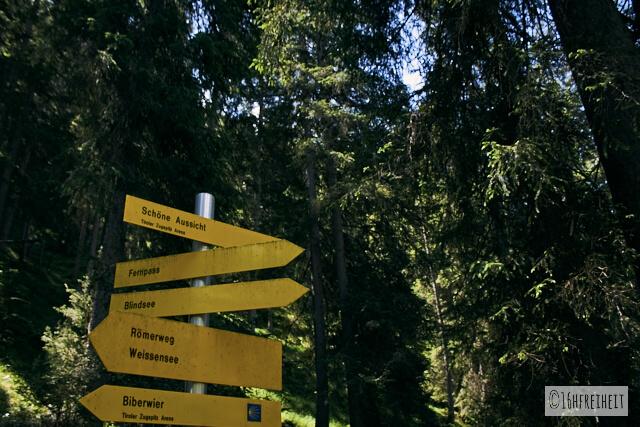 Wanderung zum Blindsee-Schild Schöne Aussicht