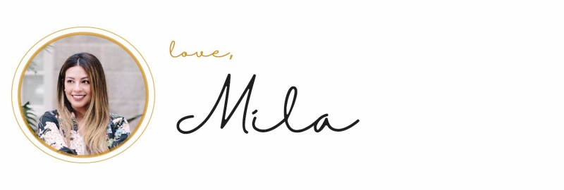 signature line that reads: love, Mila
