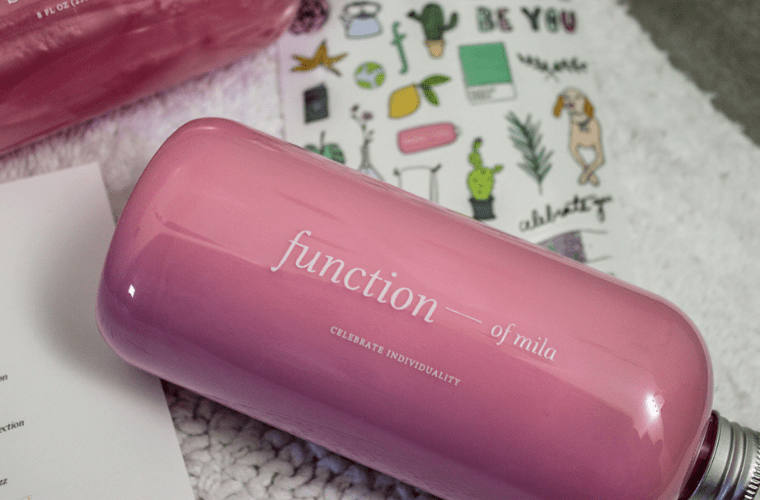 photo of pink Function of Beauty conditioner bottle