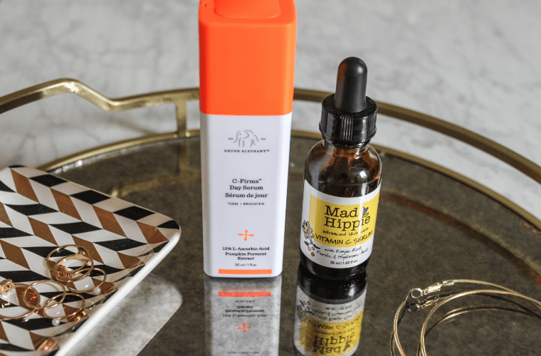 photo of drunk elephant C-Firma Day Serum and Mad Hippie Vitamin C Serum