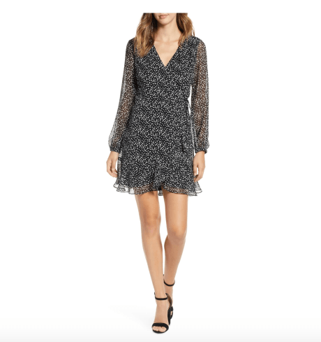 photo of All in Favor Brittany wrap minidress