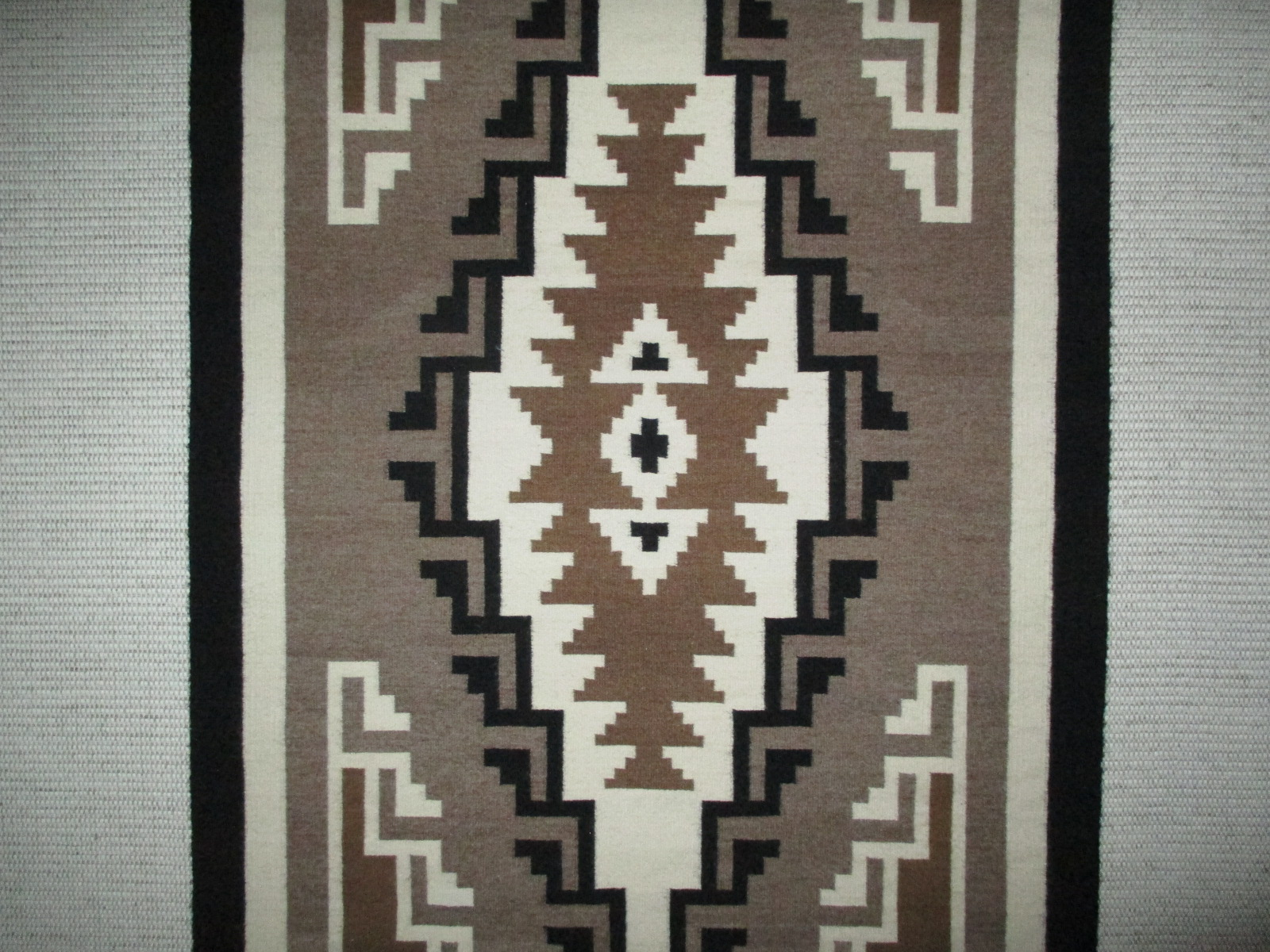 Julia Jumbo Two Grey Hills Tapestry Rug Smaller Navajo