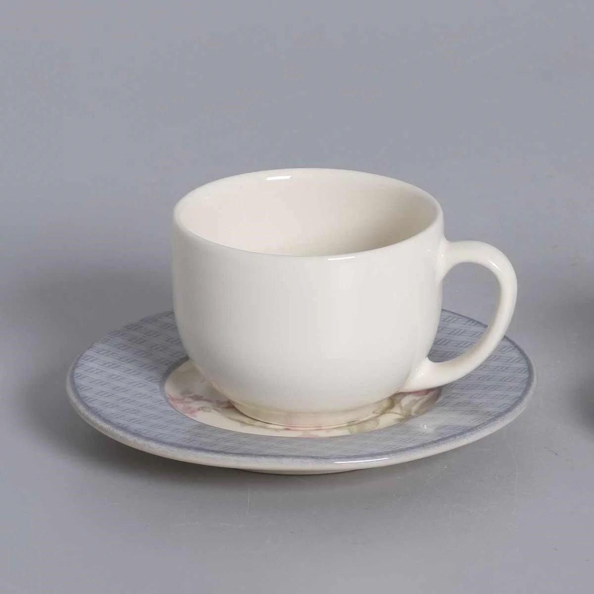 Facebook artesanías bely · twitter artesanías bely. Xícara de Chá e Café Cerâmica Soft Blue 161ml 6 peças