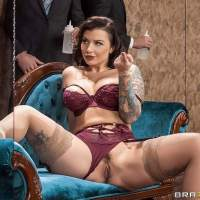 Ivy Lebelle lounging for sex in a stunning lingerie