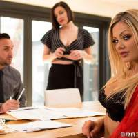 Her Wife Wants Me feat. Riley Steele in her first porn for Brazzers