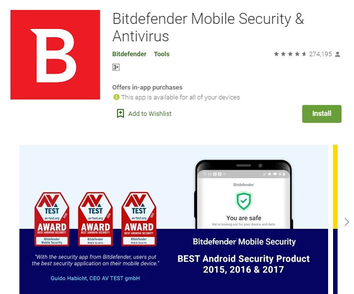 top 5 best Android Antivirus app