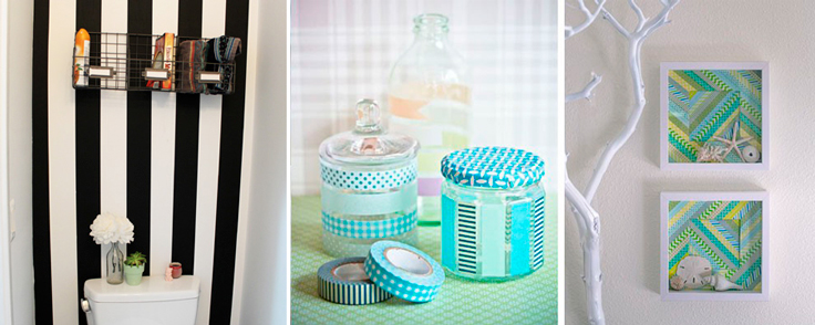 Washi tape para decorar el baño3