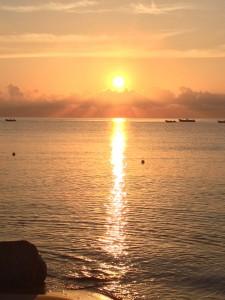 Sunrise in Sardinia Italy.