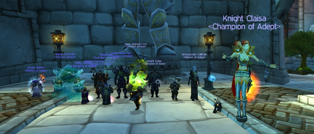 Screenshot of the Adept RBG team after they hit 1600