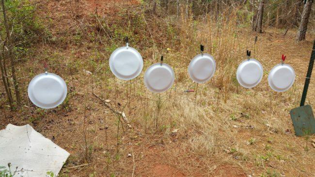 shooting, target, paper plates, AR-15, firearms. Tannerite, prepper, preparedness, SHTF, target, practice, training