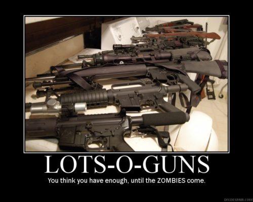 zombie, guns, meme, preparedness, prepper, SHTF, stockpile, ammo