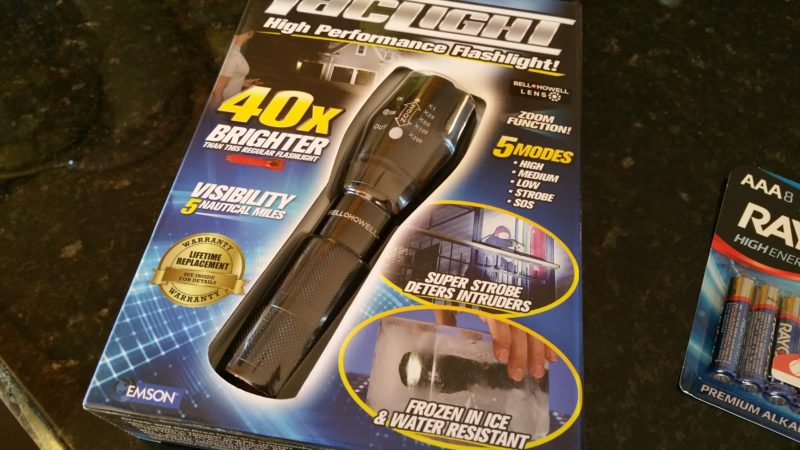 Taclight, LED, flashlight, review