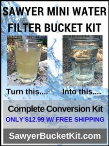 water filter, Sawyer, bucket kit, prepper, survival, preparedness, shtf