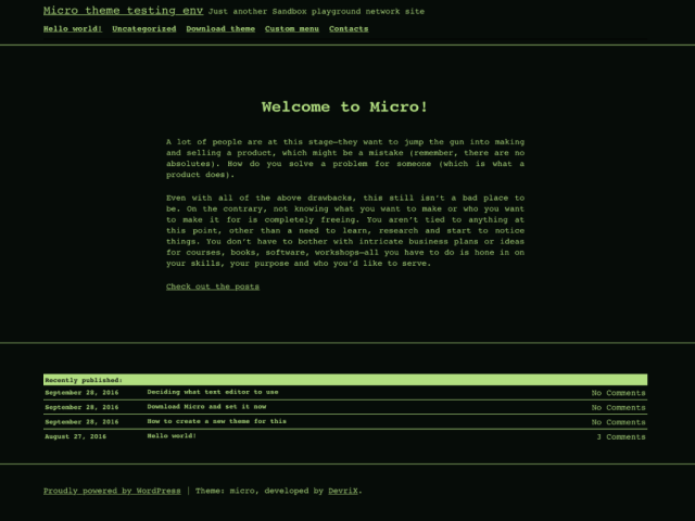Micro - free WordPress theme's screenshot