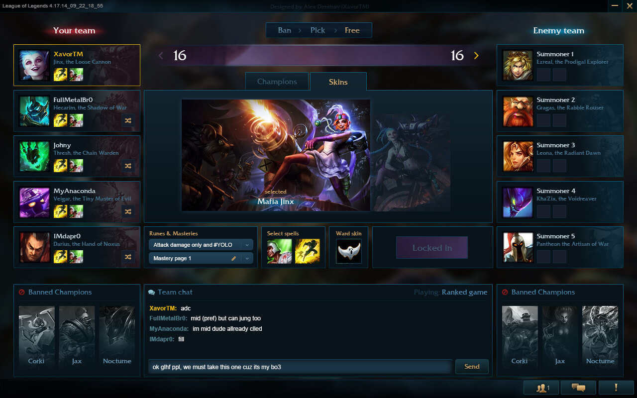 How I Crafted My View For The League Of Legends Champions Select Screen Alex Dimitrov