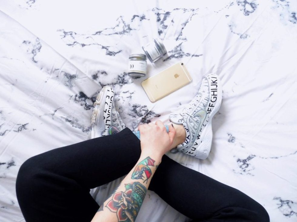 Matilda Anton sneakers and marble