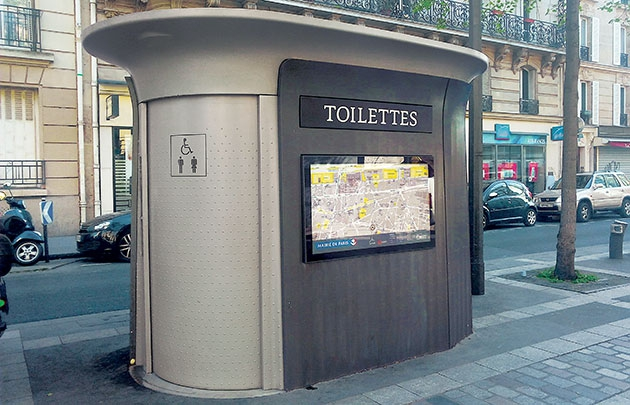 how to use a sanisette, or public toilet in france