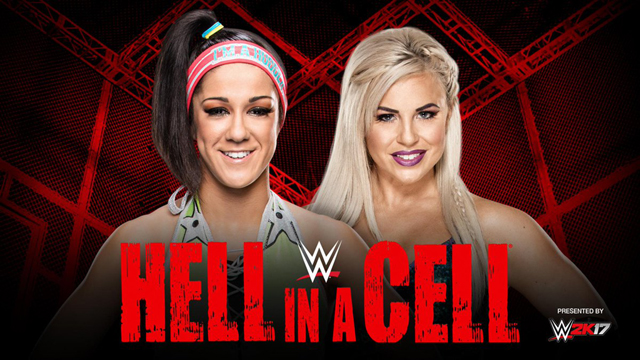 Image result for Bayley vs. Dana Brooke  hell in a cell
