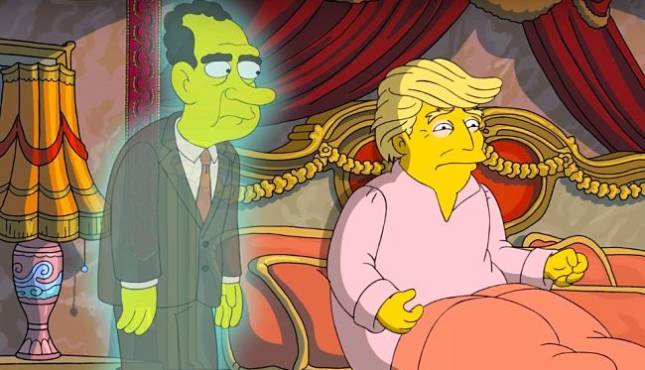 Image result for donald trump and the simpsons