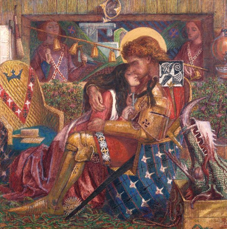 The Wedding of St George and Princess Sabra 1857 by Dante Gabriel Rossetti 1828-1882