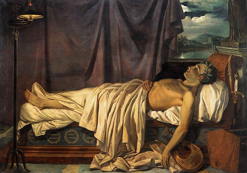Image result for lord byron sad in painting