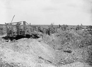 Ruins of Guillemont railway station, September 1916. This was the main German strong point to the north west of the village. IWM Q1170