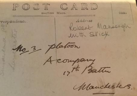 Mansergh Rear of Platoon postcard