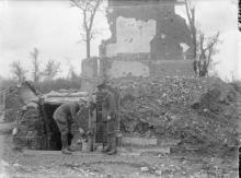 Town Major's dugout Montauban 1916