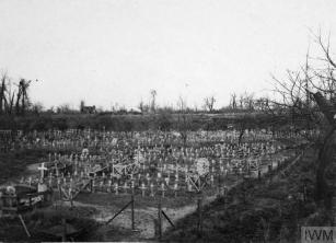 WAR CEMETERIES ON THE WESTERN FRONT, 1914-1918 (Q 78627) Caudron Farm war cemetery at Maricourt, 8 November 1917. Copyright: © IWM. Original Source: http://www.iwm.org.uk/collections/item/object/205323387