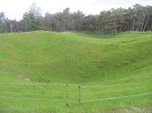 Craters in No Mans Land at Vimy Ridge