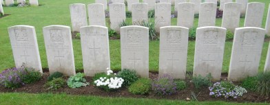 Manchester Regiment graves at Dantzig Alley, recovered from Brick Point