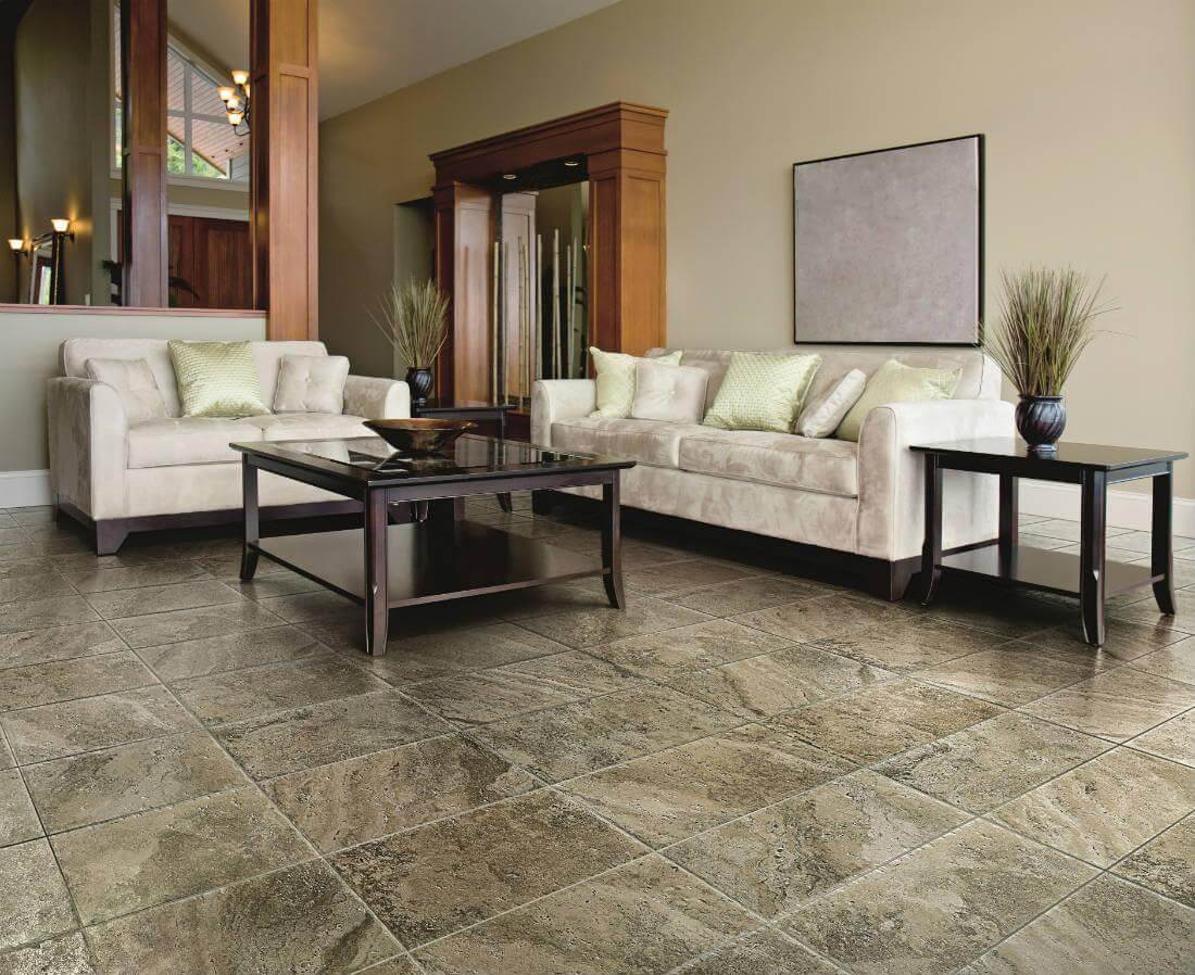 stone look tile living room why tile