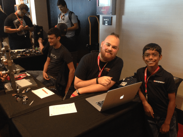 At the CTF and Lock-picking booth at Hou.Sec.Con 5.0 with jgor