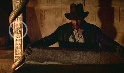 R2-D2 and C-3PO in Indiana Jones Raiders of the Lost Ark..click picture for a close-up.