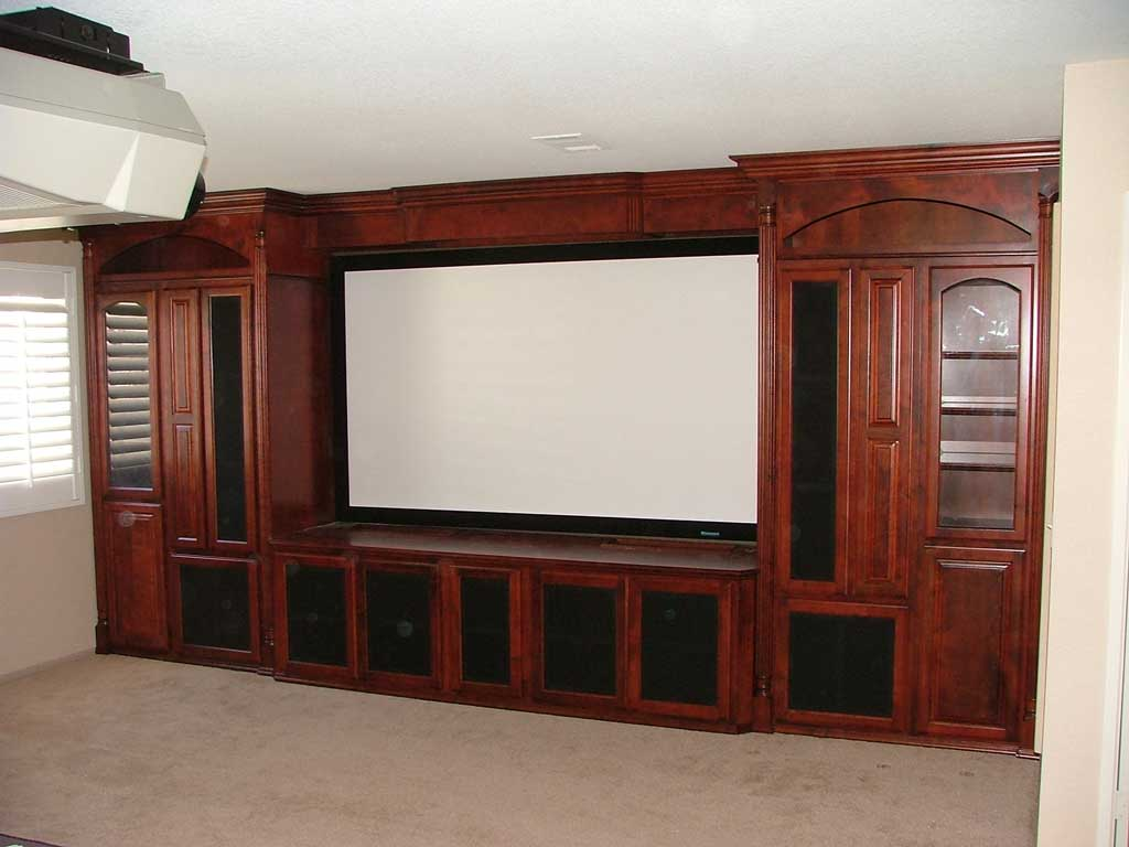 Built In Custom Home Theater Cabinets Cabinet