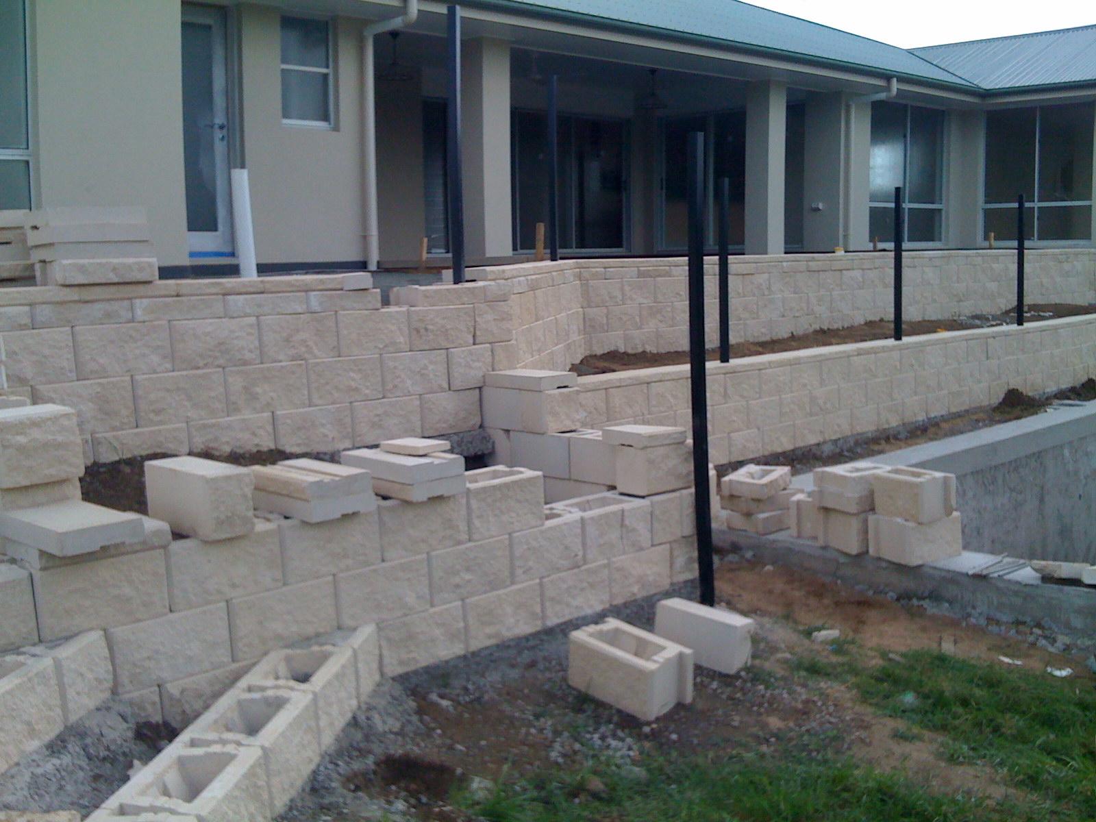 GB masonry Link block terrace wall