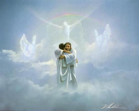 JESUS IN HEAVEN PAINTING