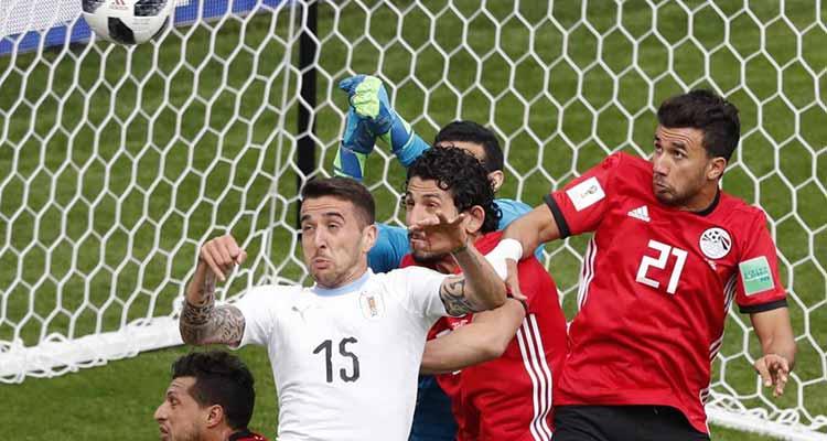 Uruguay ganó sufriendo frente a un cerrado Egipto