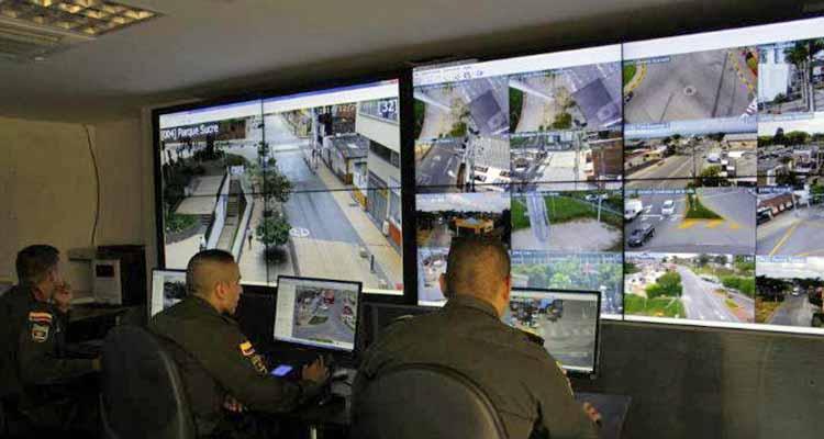 centro de mando de cámaras de seguridad Armenia