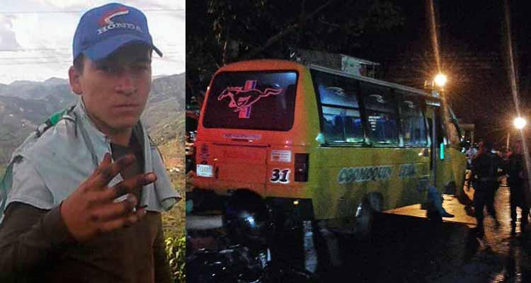 Hombre asesinado en puerta de bus Caicedonia