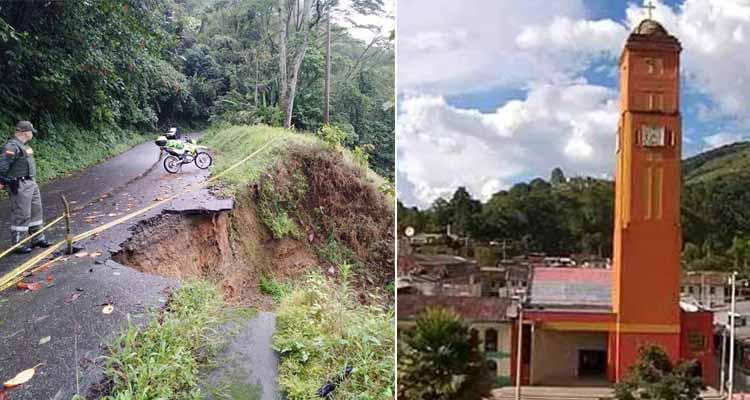 Comerciantes de Pijao con ventas por el suelo por cierre de la vía