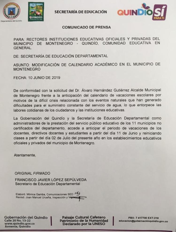 Adelantan las vacaciones escolares en Monenegro ante emergencia por el agua
