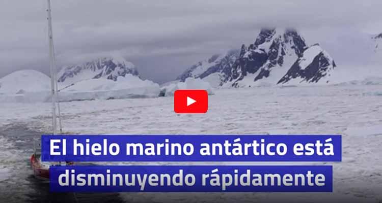 hielo antártico disminuyendo rápidamente